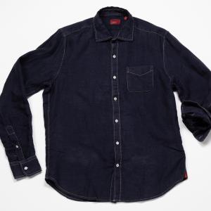 Long Sleeve Linen Shirt – Navy