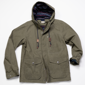 Waxed Ripstop Hooded Jacket // Olive