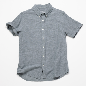 Short Sleeve Chambray Shirt // Spruce