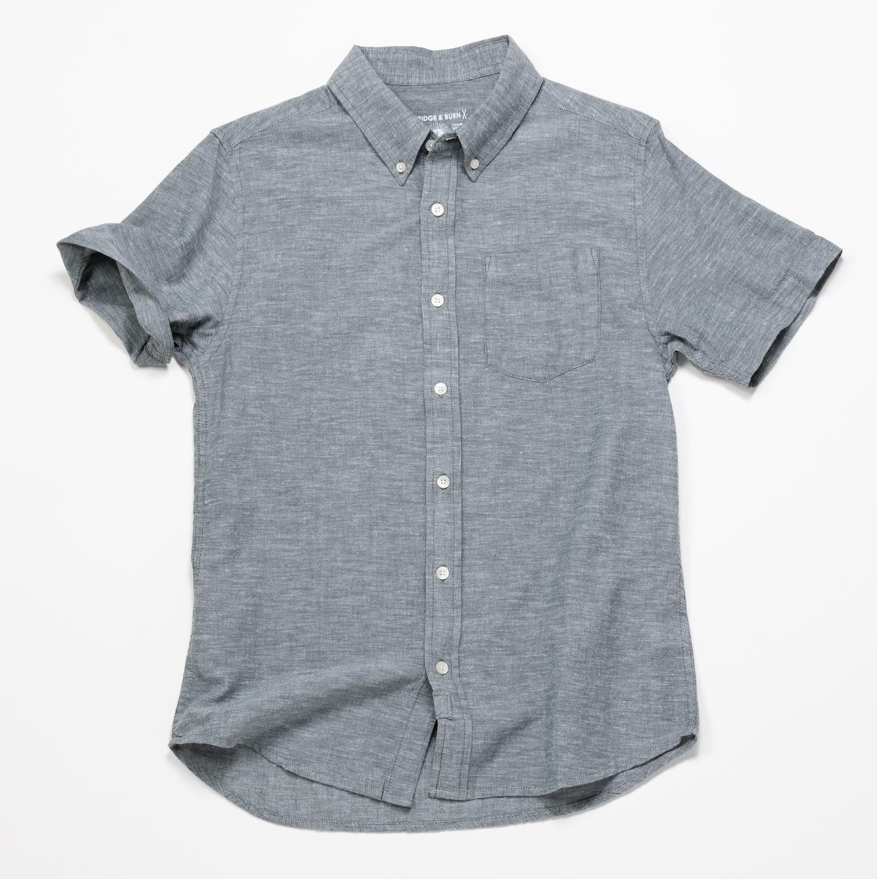 Short Sleeve Chambray Shirt – Spruce