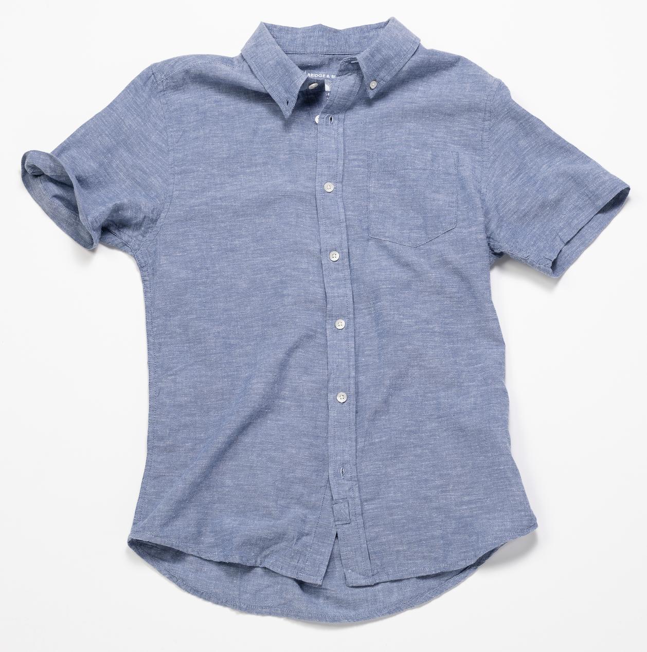 Short Sleeve Chambray Shirt – Light Indigo