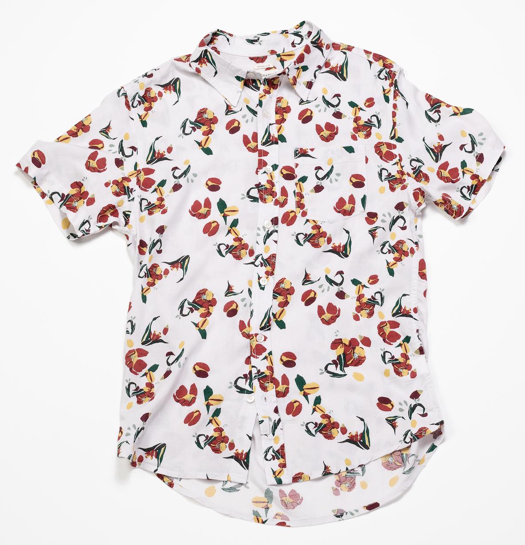Short Sleeve Shirt – Tulip Print