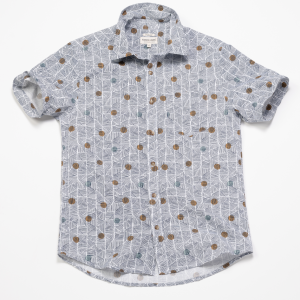 Short Sleeve Shirt // Geo Poko Print