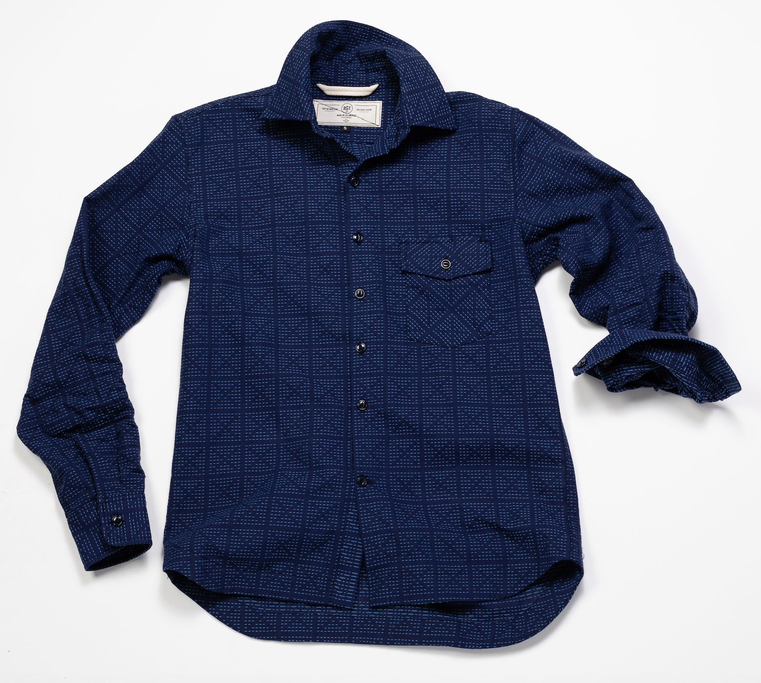 Oxford Work Shirt X Stitch Sashiko – Navy