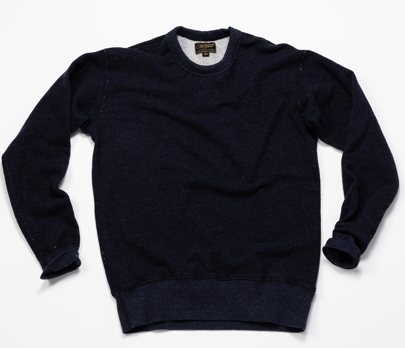 Rib Crew Sweatshirt – Dark Indigo