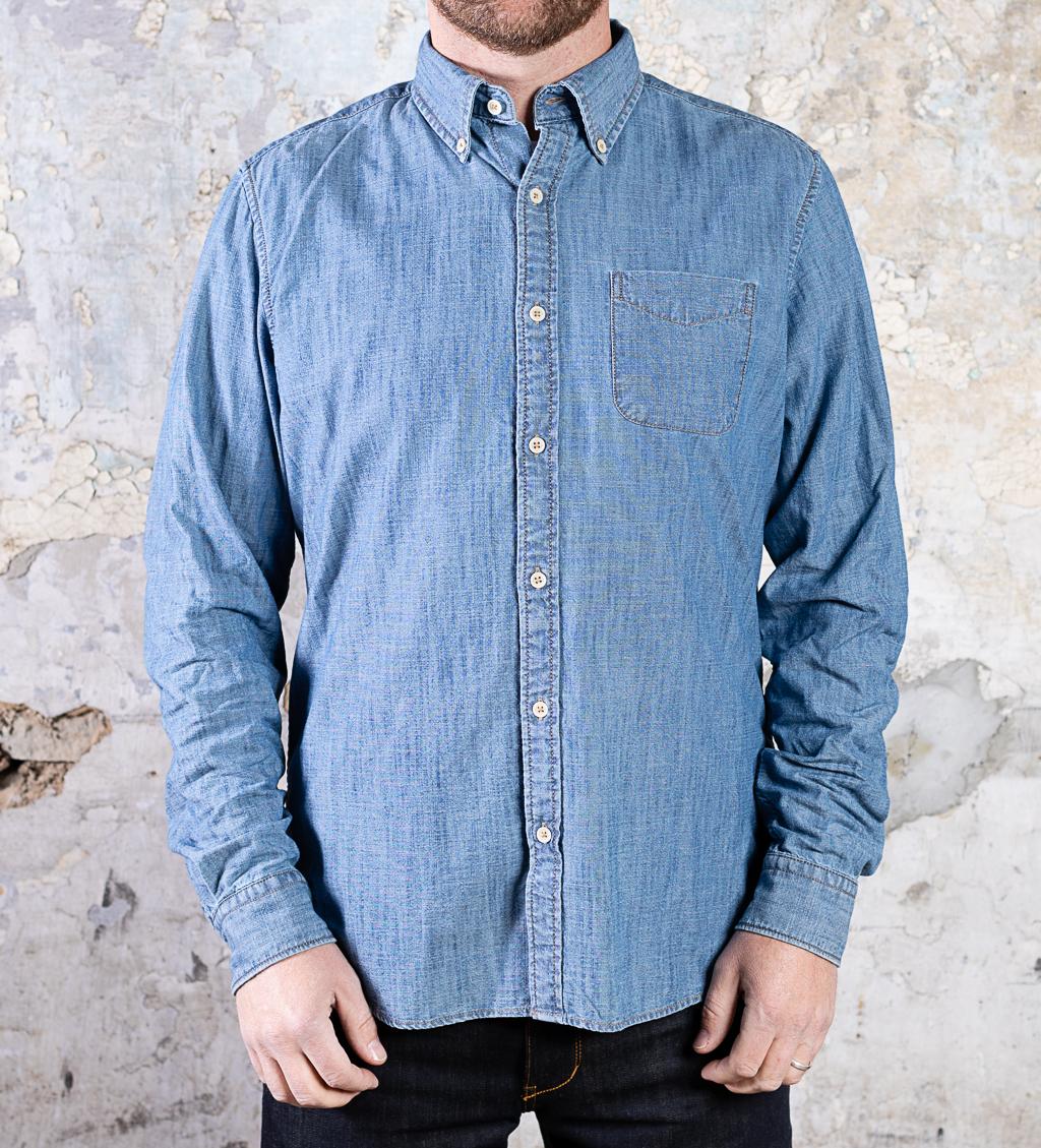 & Sons Chambray Shirt :: Light Indigo (replacement)