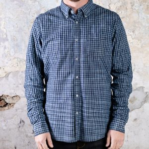 Checkers Shirt // Dark Indigo
