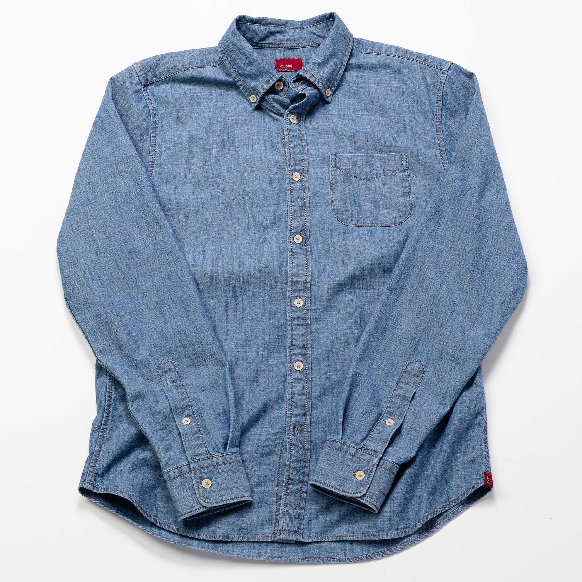 &-Sons-Garment-Co-Chambray-Shirt