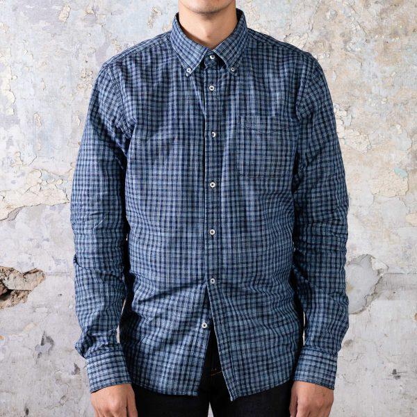 Checkers Shirt // Dark Indigo