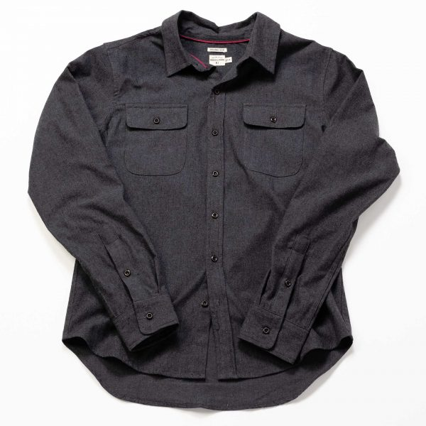 Flannel Shirt // Slim Fit - Dark Grey