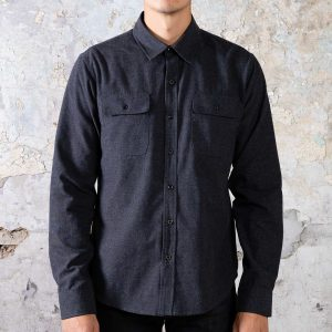 Flannel Shirt // Slim Fit - Dark Grey