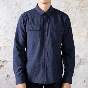Flannel Shirt // Slim Fit - Indigo