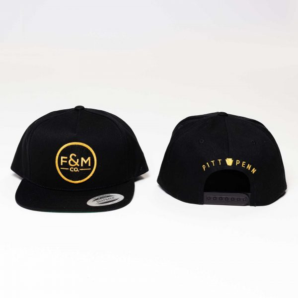 F&M Co. Snapback Hat // Canvas - Black
