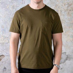 Short Sleeve Pocket Tee // Military Green