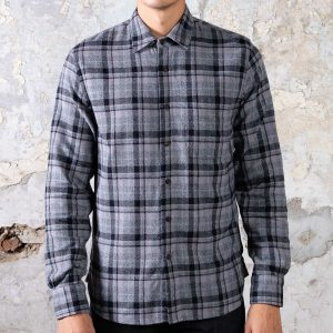The Ripper Shirt // Vintage Plaid Flannel - Dark Grey