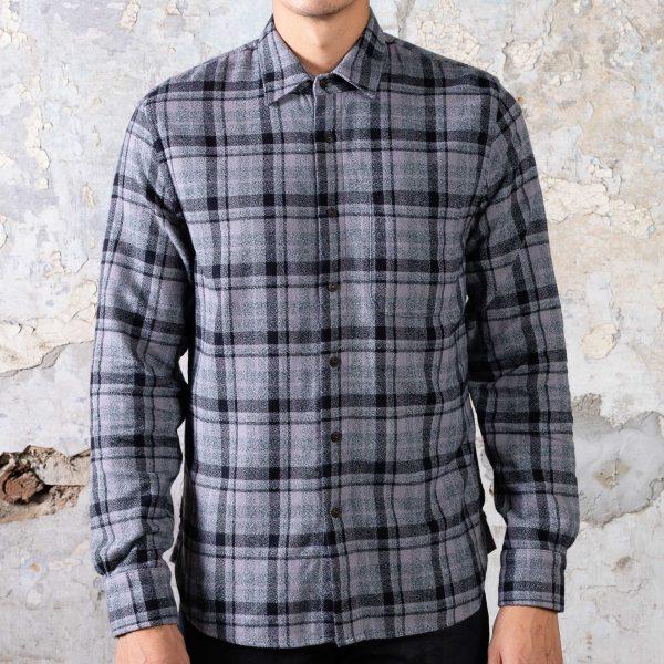 The Ripper Shirt // Vintage Plaid Flannel - Dark Grey