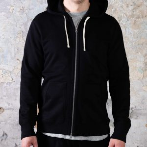 Full Zip Hoodie // Mid-Weight - Black