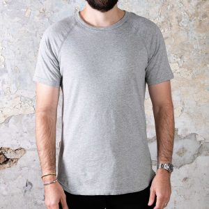Jersey Raglan Tee // Pima Cotton - Heather Grey