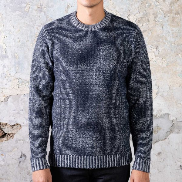 Headland Sweater - Marled Navy