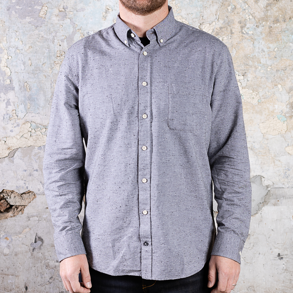 Taylor Stitch The Jack Shirt :: Charcoal Fleck (replacement)