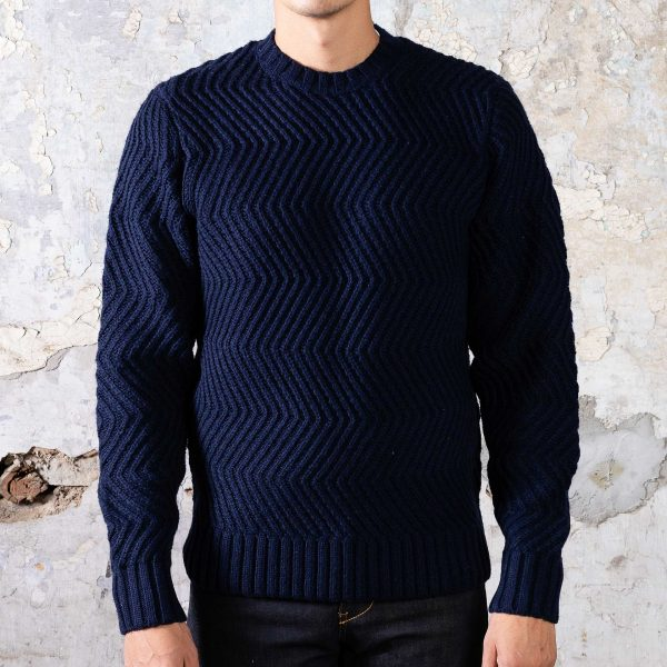 Wave Sweater - Navy