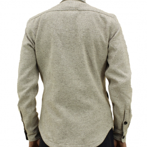 Anvil Shirt Jacket Oatmeal Onbody 2