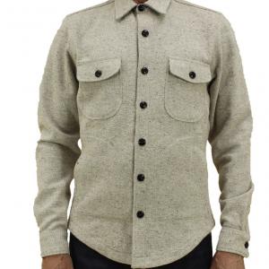 Anvil Shirt Jacket // Light Brown Neppy Yarn Dobby