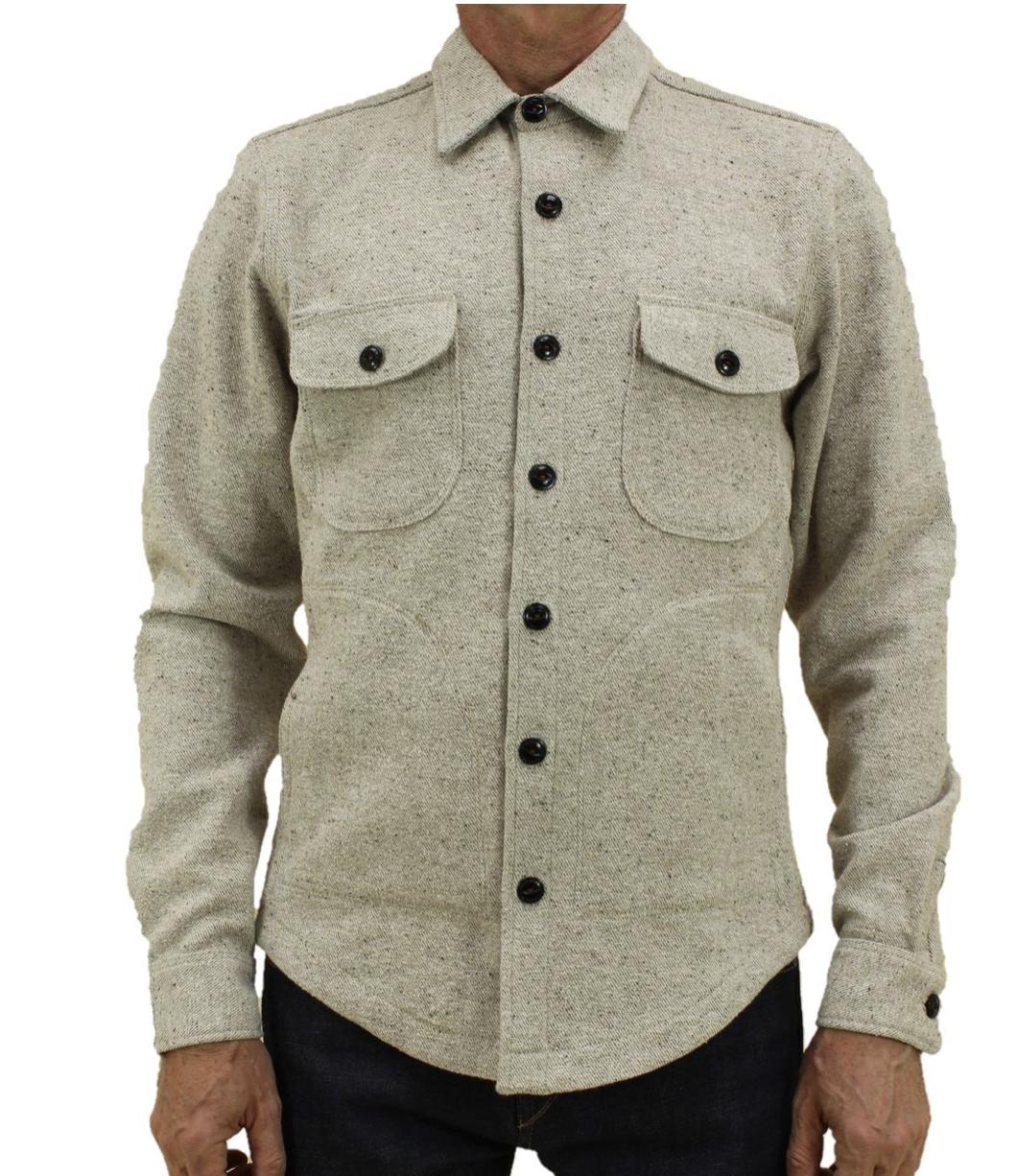Anvil Shirt Jacket Oatmeal Onbody