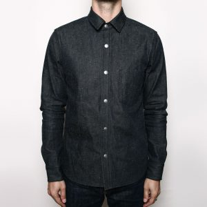 Denim Oxford Shirt // Neppy Black