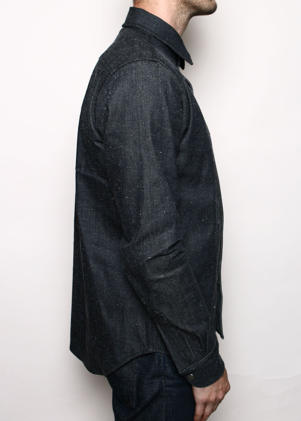 Denim Oxford Shirt // Neppy Black
