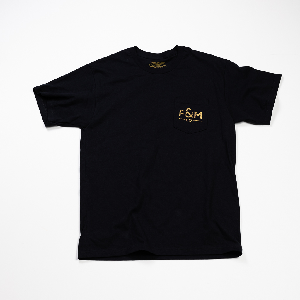 F&M Co. Heavyweight Shop Pocket Tee :: Antique Black Image 1
