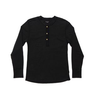 Heavyweight Long Sleeve Gym Tee // Black Heather