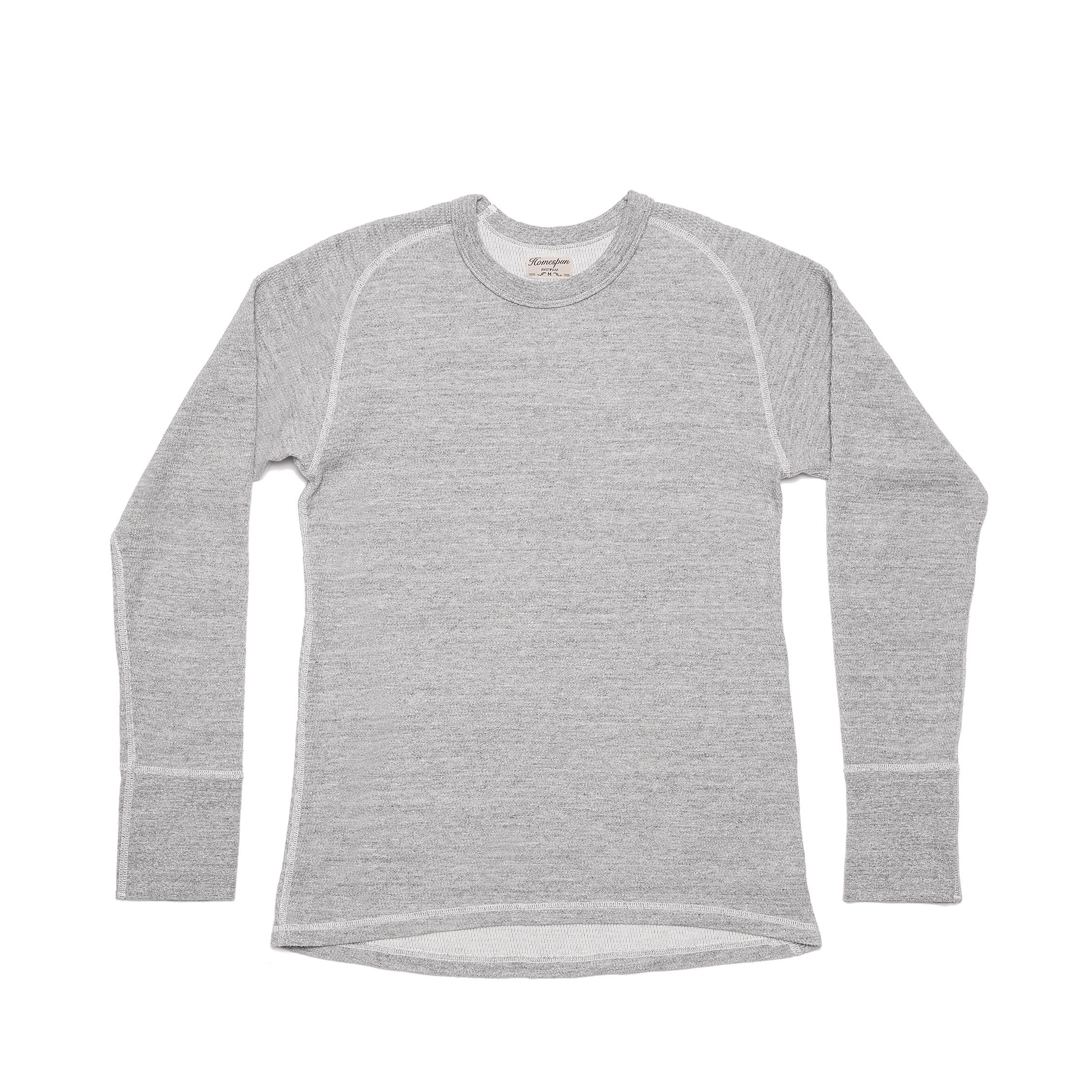 Homespun Knitwear Long Sleeve Raglan Thermal :: Grey