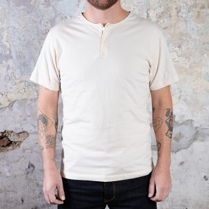 Short Sleeve Henley Tee // Natural