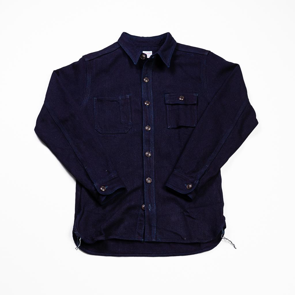 Momotaro Heavy Indigo Dobby Shirt :: Indigo