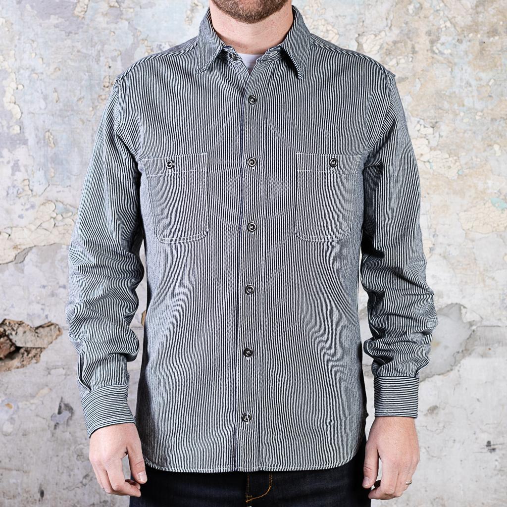 Momotaro Hickory Stripe Shirt :: Indigo