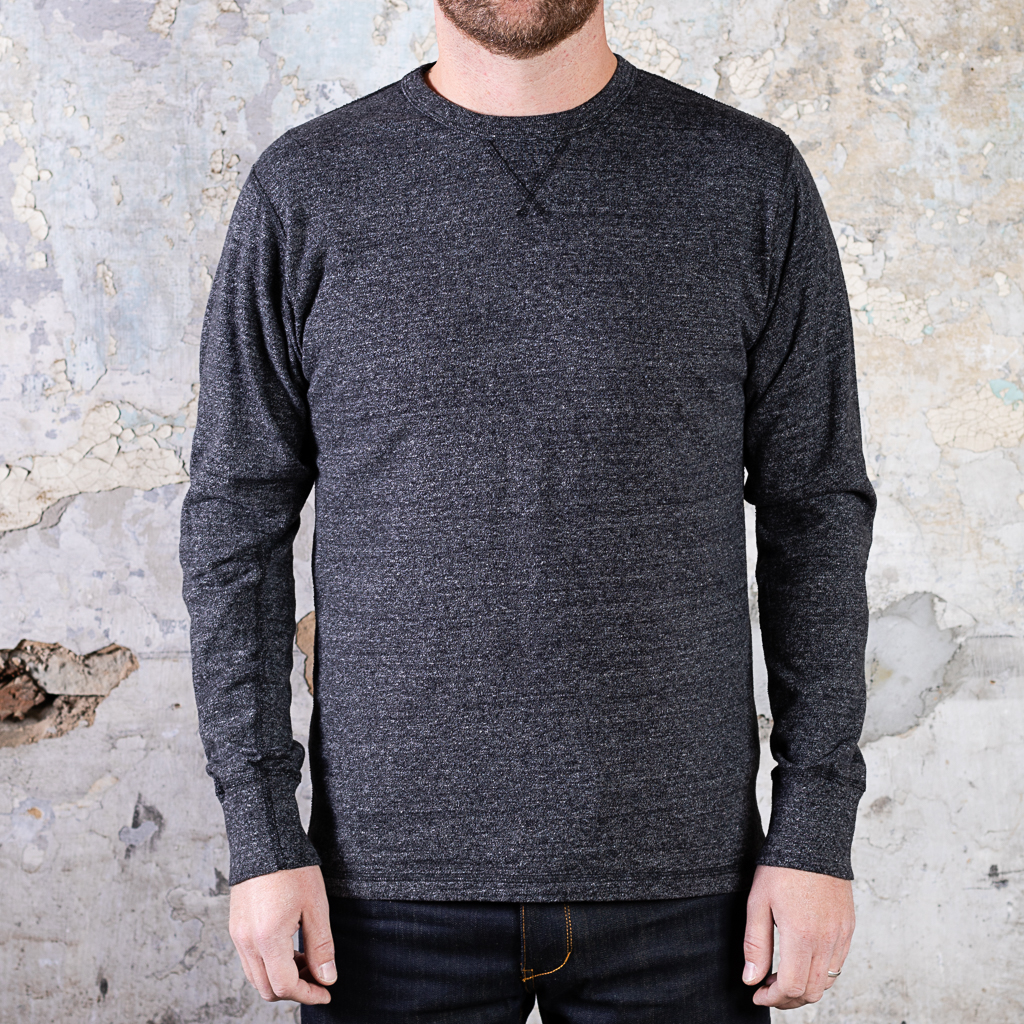 National Athletic Goods Heavyweight Long Sleeve Gym Tee :: Black Heather