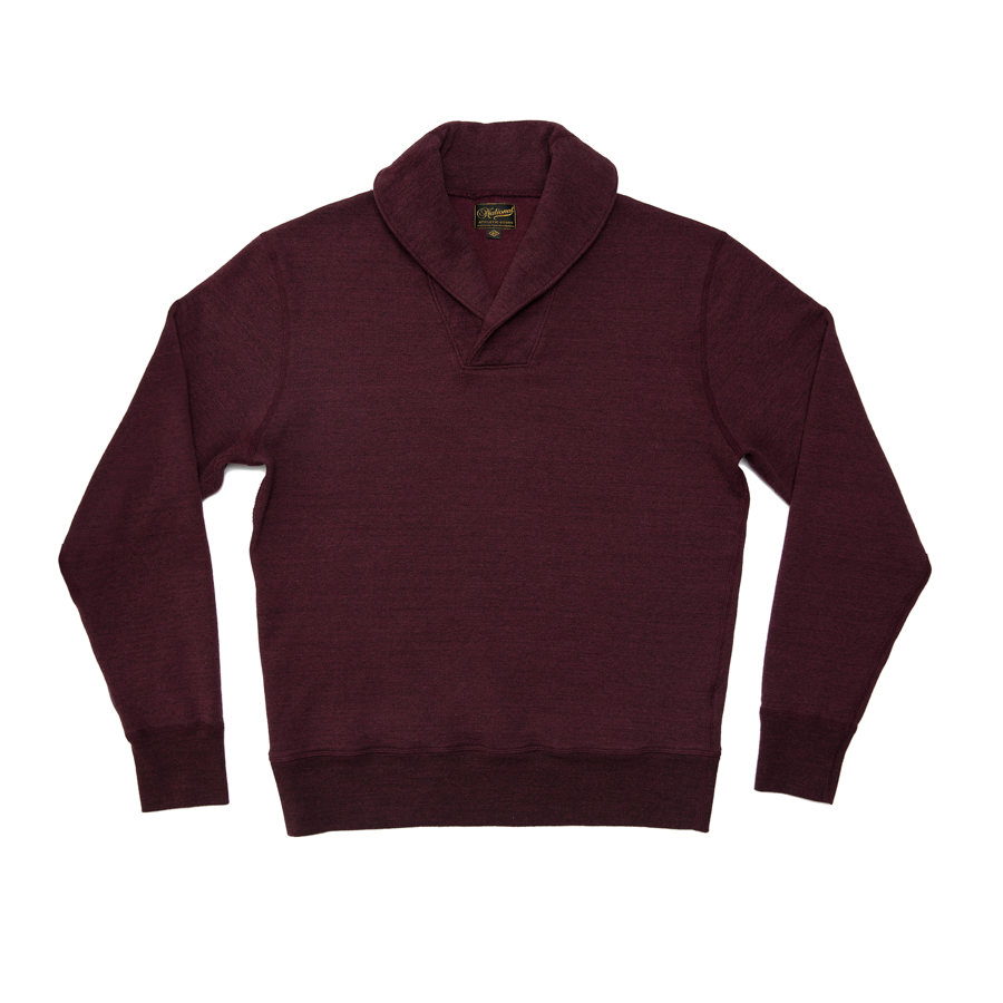 National Athletic Goods Raglan Shawl Pulllover Fleece :: Merlot