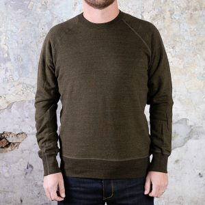 National Athletic Goods Raglan Warm Up Fleece :: Olive