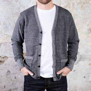 National Athletic Goods Varsity Cardigan :: Granite Image 1