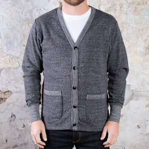 National Athletic Goods Varsity Cardigan :: Granite Image 2