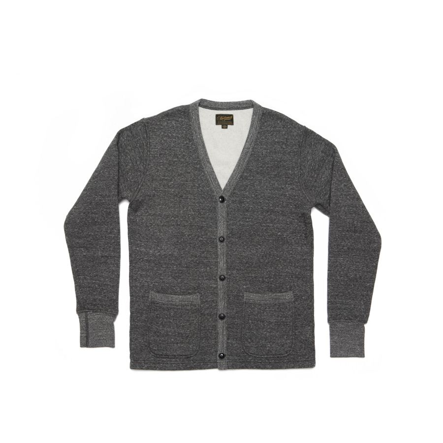 National Athletic Goods Varsity Cardigan :: Granite