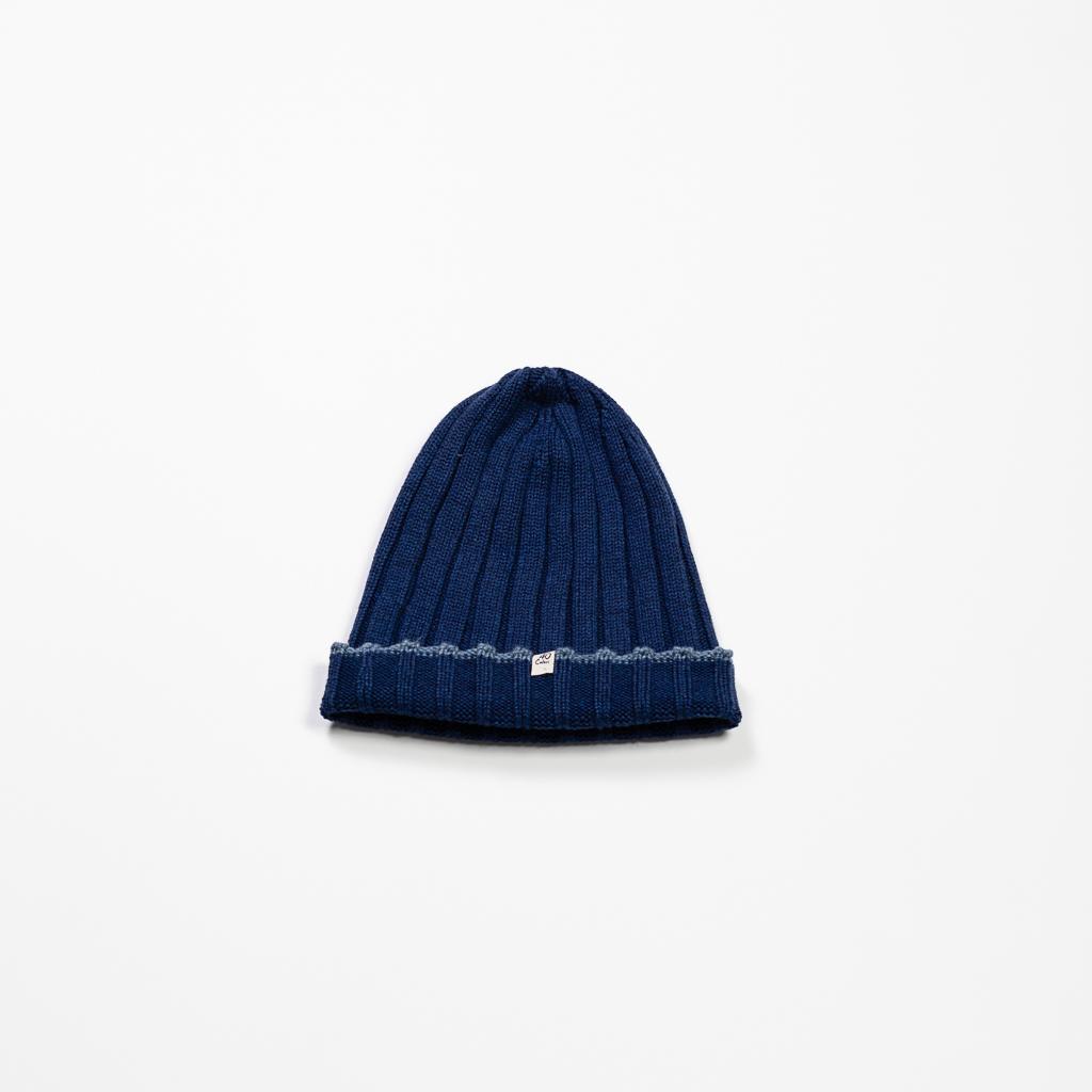 Ribbed Wool Beanie :: Blue