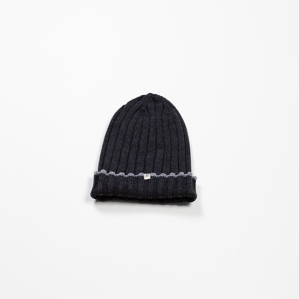 Ribbed Wool Beanie // Charcoal