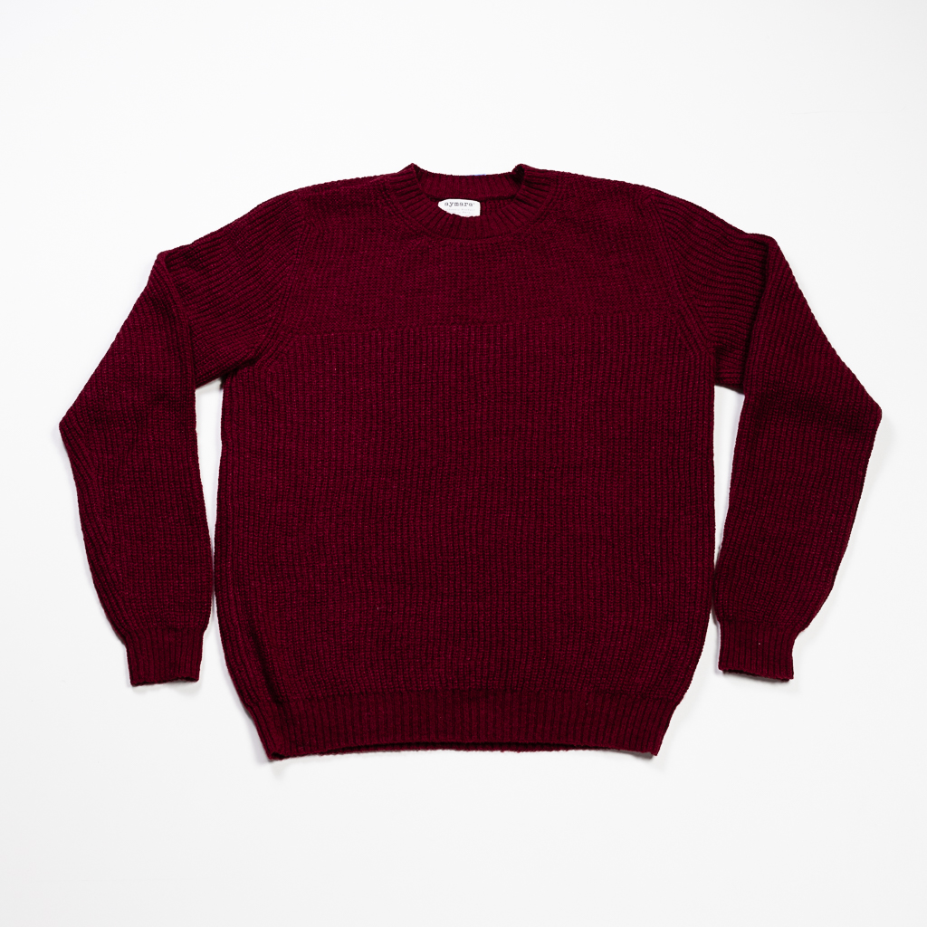 Baby Alpaca Sweater // Wine