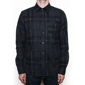 Abstract Plaid Shirt // Dark Grey
