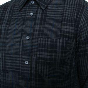 Abstract Plaid Shirt // Dark Grey