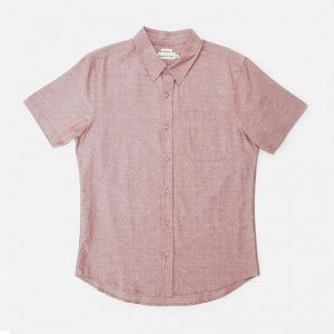 Dobby Dot Shirt // Rust