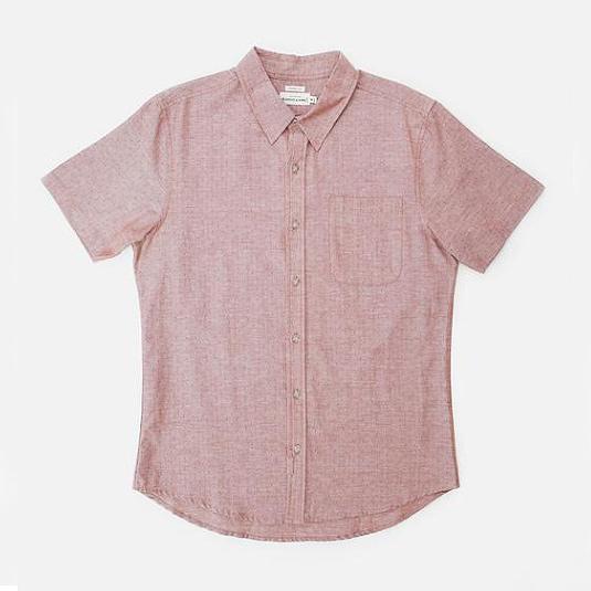 Dobby Dot Shirt // Rust