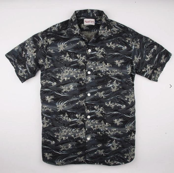 Hawaiian Camp Shirt // Japanese Waves